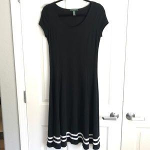 Ralph Lauren Black dress with white trim